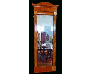 Biedermeier Mirror of tall dimensions with marquetry - OFFERS ACCEPTED