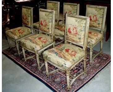 Antique Dining Chair Set of 6 - Napoleon III