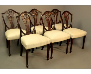 Dining Chairs Hepplewhite style - Set of 6