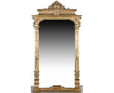 Antique French Mirror 19th century - Large