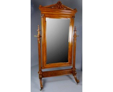 Cheval Mirror 19th Century- Museum Quality - SOLD