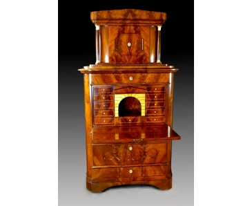 Secretaire a Abattant Biedermeier with Tabernacle - WE WELCOME OFFERS