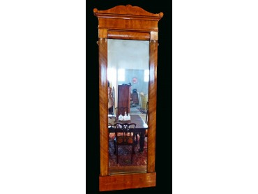 Biedermeier Mirror of tall dimensions with marquetry