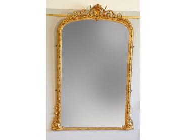 Grand Victorian Gilt Wood Mirror