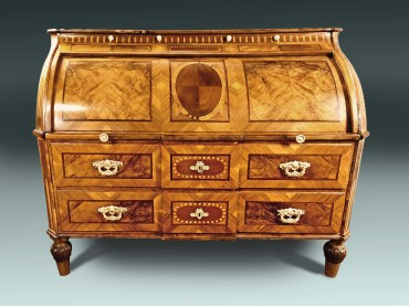 Antique Bureau - Cylinder Top - 18th Century