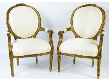 French fauteuils Louis XVI Period - 18th Century