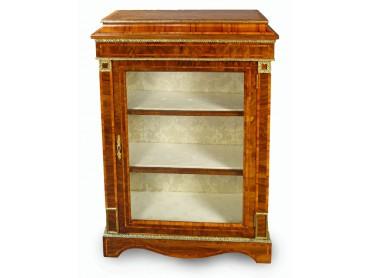 Victorian Display Case Burr Walnut with Brasses