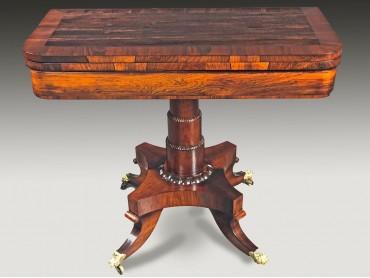 Regency Rosewood Tea and Games table
