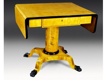 Biedermeier Sofa Dropleaf Table