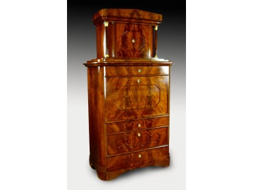 Secretaire a Abattant Biedermeier with Tabernacle - Early 19th Century