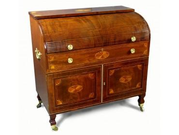 Georgian Tambour Bureau Desk - Fin.18th Century