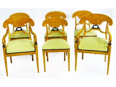 Biedermeier Swedish Dining Chairs - Set of 6