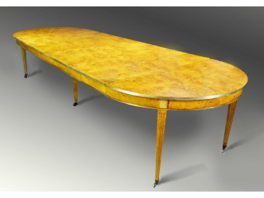 French Large Circular Dining Table Extends to 3.70m -SOLD