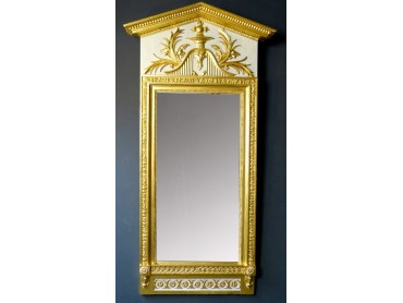Gustavian Empire Swedish Mirror labelled Jon Frisks