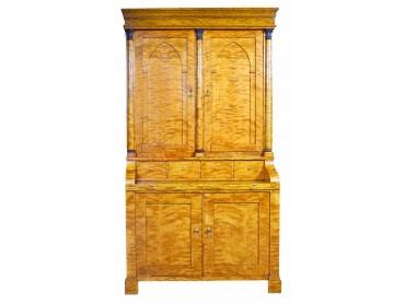 Bureau Bookcase Biedermeier early 19th Century