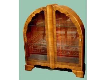 Art Deco Display Case - Light Walnut