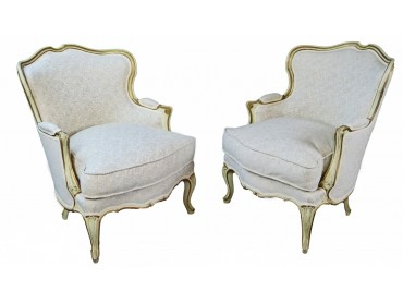 Antique Pair of Armchairs - Louis XV style