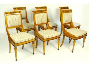Antique Biedermeier Chairs - Set of 6