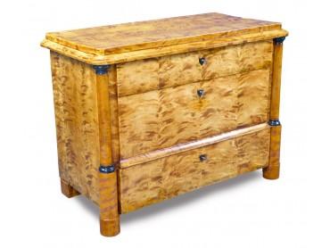 Antique Biedermeier Commode of Tiger Maple