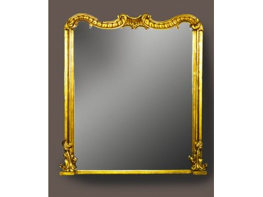 Antique Chippendale Style Large Mirror