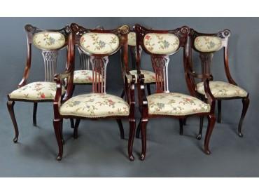 Art Nouveau 6 Dining Chair set - SOLD
