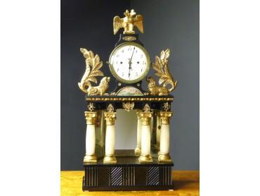 Biedermeier Mantel Clock with Music Box