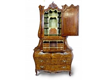 Northern Italian Secretaire Bureau Bookcase 18th Century