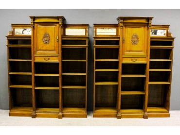 Pair of Victorian Breakfront Bookcases by W.Walker, London