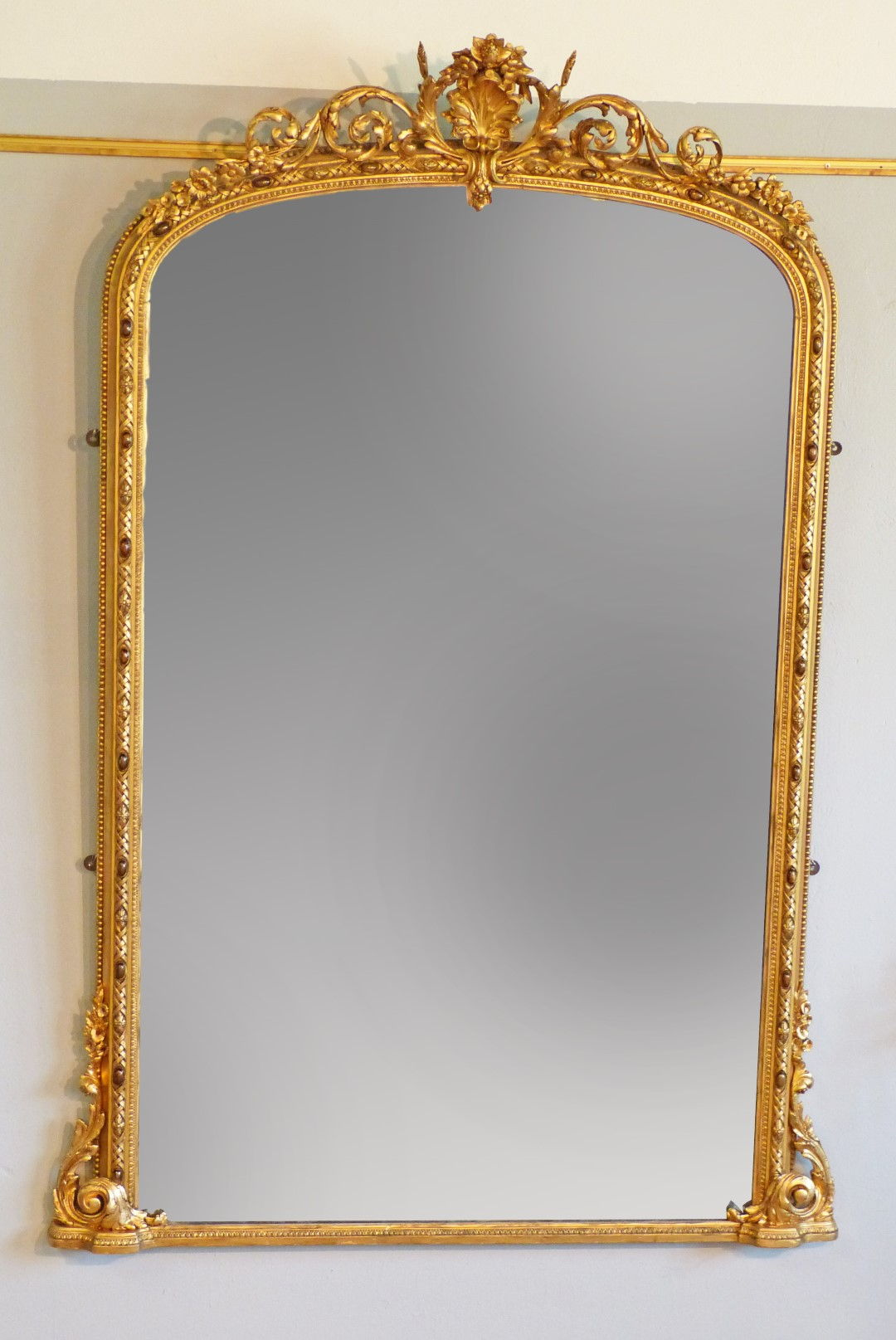 Mirrors Grand Victorian Gilt Wood Mirror