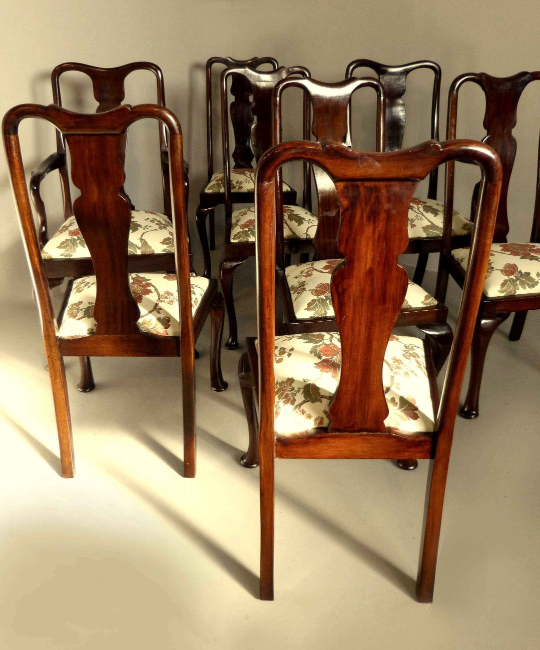 ... Queen Anne Dining Chairs   Set Of 8 ...