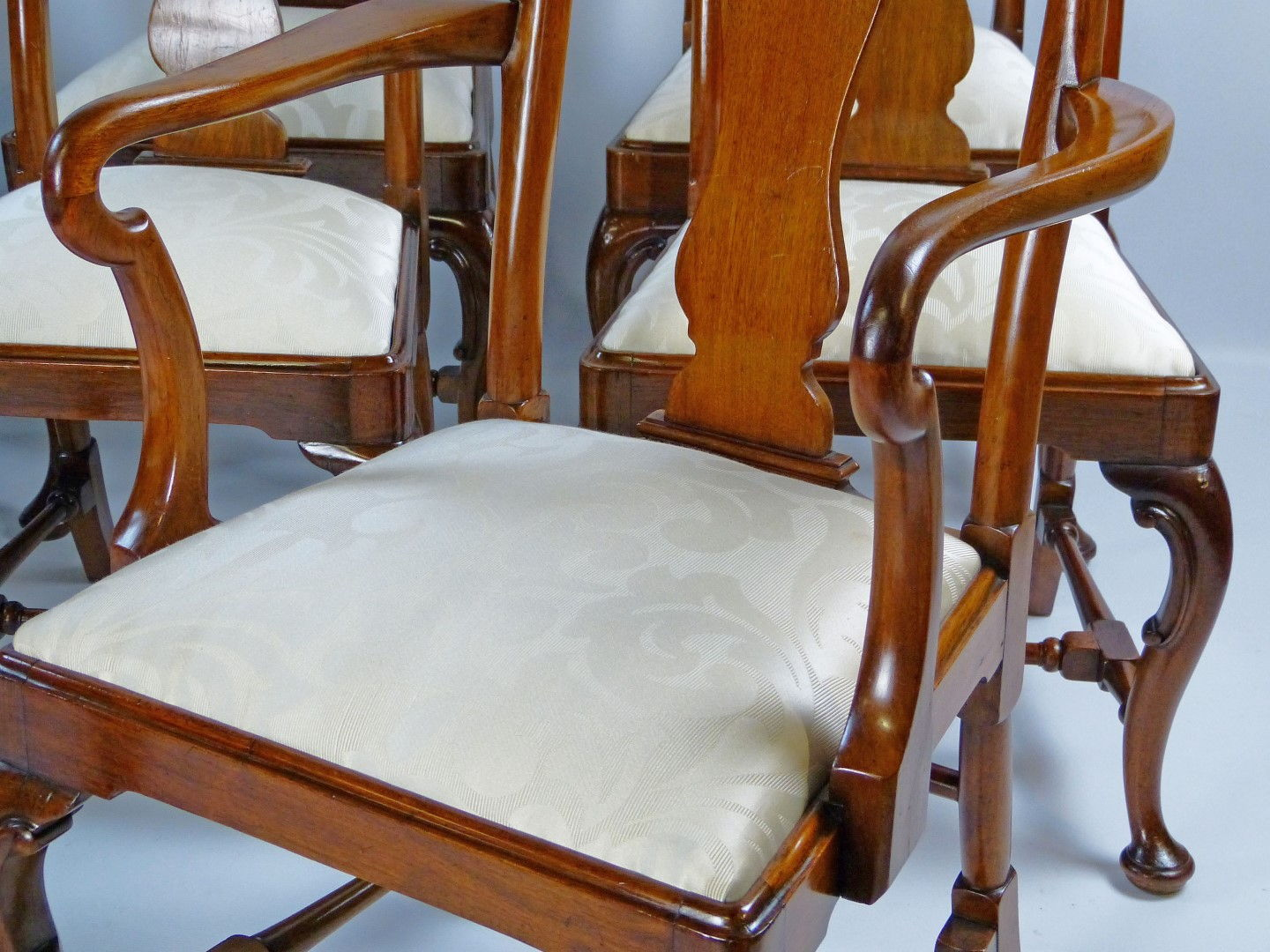 ... Antique Dining Chair Set of 8 Queen Anne Style ... & Antique furniture | antique cupboards | antique tables | antique ...
