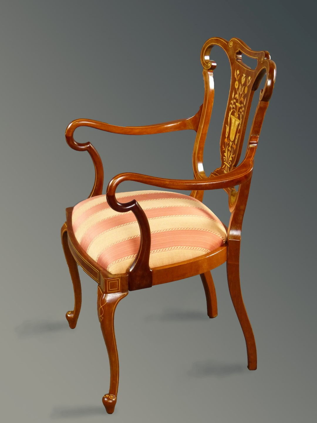 Edwardian Armchair   Marquetry