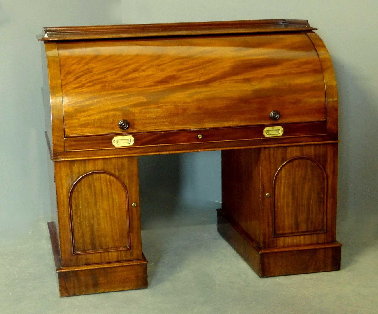 ... Antique Desk Cylinder Top x-Sir Stafford Cripps ... - Antique Furniture Antique Cupboards Antique Tables Antique