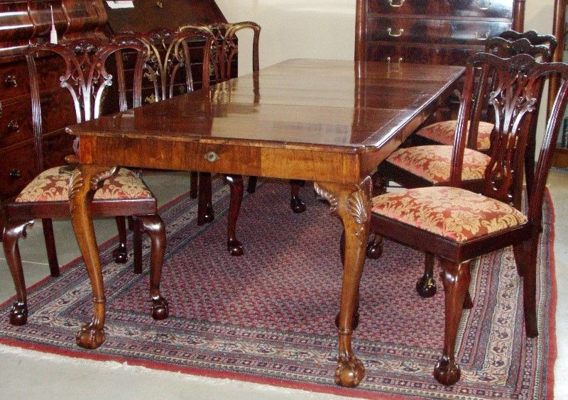 Antique Dining Table And Chairs Jacobean Furniture