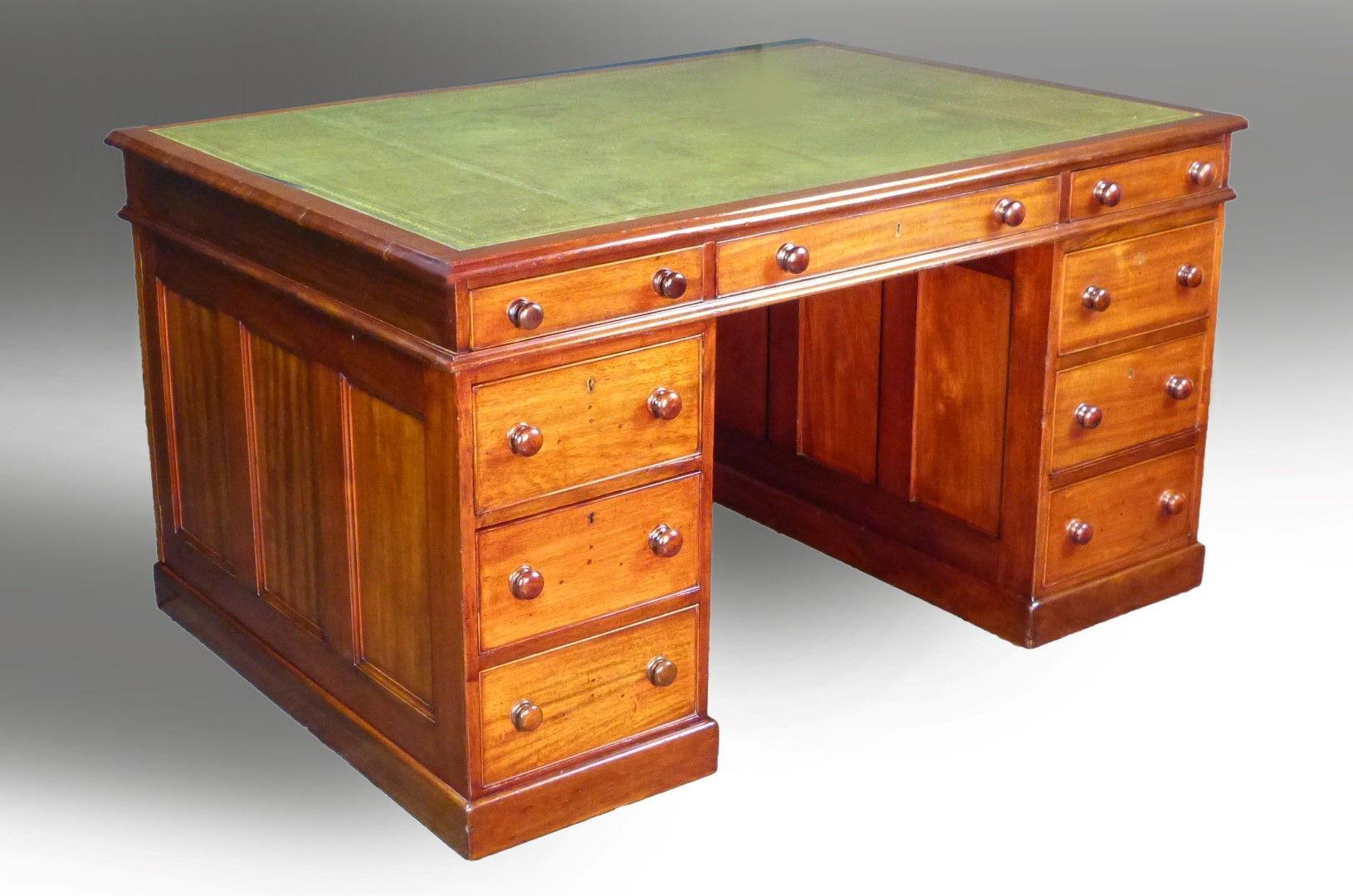 Antique Partners Desk Decorative Business Card Holder For Desk