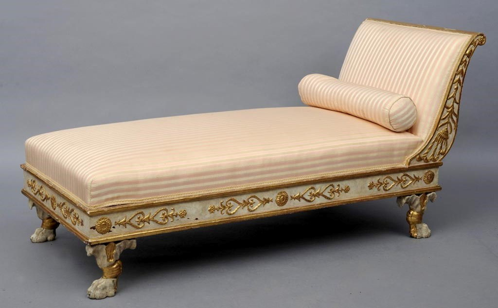 Antique furniture antique cupboards antique tables for Chaise longue day bed