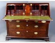 Antique Bureau Cuban Figured Mahogany - George III