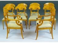 Biedermeier Dining Chairs - Rare set of 10 - SOLD