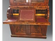 Antique Bureau Bookcase with Cylinder Top