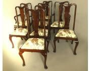 Queen Anne Dining Chairs - Set of 8