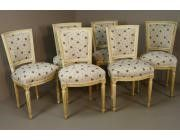 Louis XVI style Dining Chairs Decapé - Set of 6