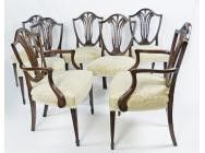 Antique Dining Chairs - Set of 8
