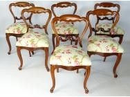Set of 6 Victorian Dining Chairs - SOLD