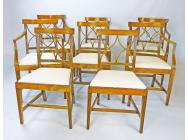 Regency set of 8 Dining Chairs - 4 Chairs & 4 Armchairs - SOLD