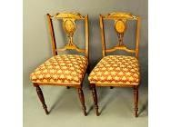 Antique Edwardian Rosewood Pair of Chairs