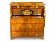 Biedermeier Bureau with Cylinder Top