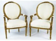 French fauteuils Louis XVI Period - 18th Century - SOLD