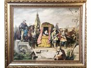 E. WOBEK IMPORTANT GERMAN OIL PAINTING