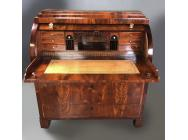 Danish Biedermeier Bureau Cylinder Top Early 19th Century