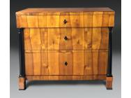 Antique Cherrywood Biedermeier Commode